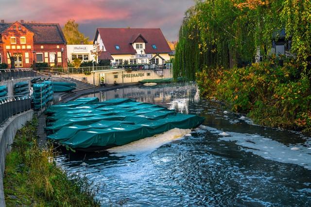 Spreehafen im Spreewald